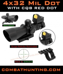 Ncstar 4x32 Mil Dot AR-15 Rifle Scope Ultimate Sighting System Combo