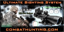 Ncstar 4x32 Mil Dot Sniper AR-15 Rifle Scope Ultimate Sighting System