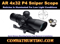 4x32 P4 Sniper Scope Compact With Quick Mount