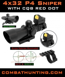Ncstar 4x32 P4 Sniper AR-15 Rifle Scope Ultimate Sighting System Combo