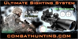 Ncstar 4x32 P4 Sniper AR-15 Rifle Scope Ultimate Sighting System