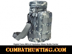 Digital Camo MOLLE Hydration Water Bottle Carrier Pouch