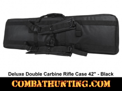 Double Carbine Rifle Case 42 Inches Black