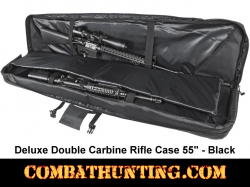 Double Tactical Rifle Case 55 Inches Black