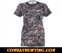 Subdued Urban Digital Camo Women's Long T-Shirt
