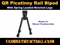 Universal Bipod Quick Release Picatinny Weaver With Barrel Mount
