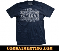 Veterans T-shirt Original All American Only the Best Quality