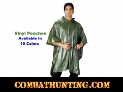 Vinyl Hooded Rain Ponchos