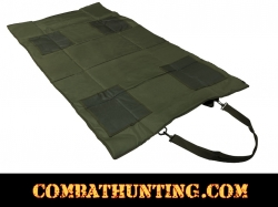 Roll Up Padded Shooting Mat Green