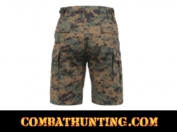 Woodland Digital Camo BDU Military Shorts