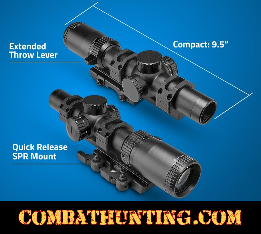 1-6x24 Scope With QD SPR Mount style=