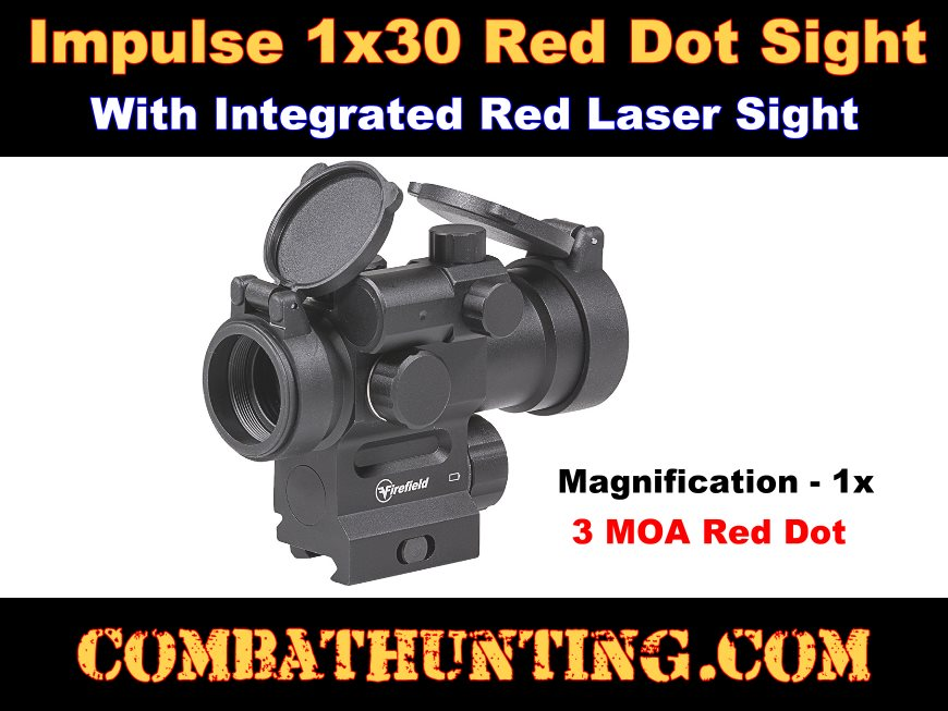 1x30 Red Dot Sight with Integrated Red Laser Sight style=