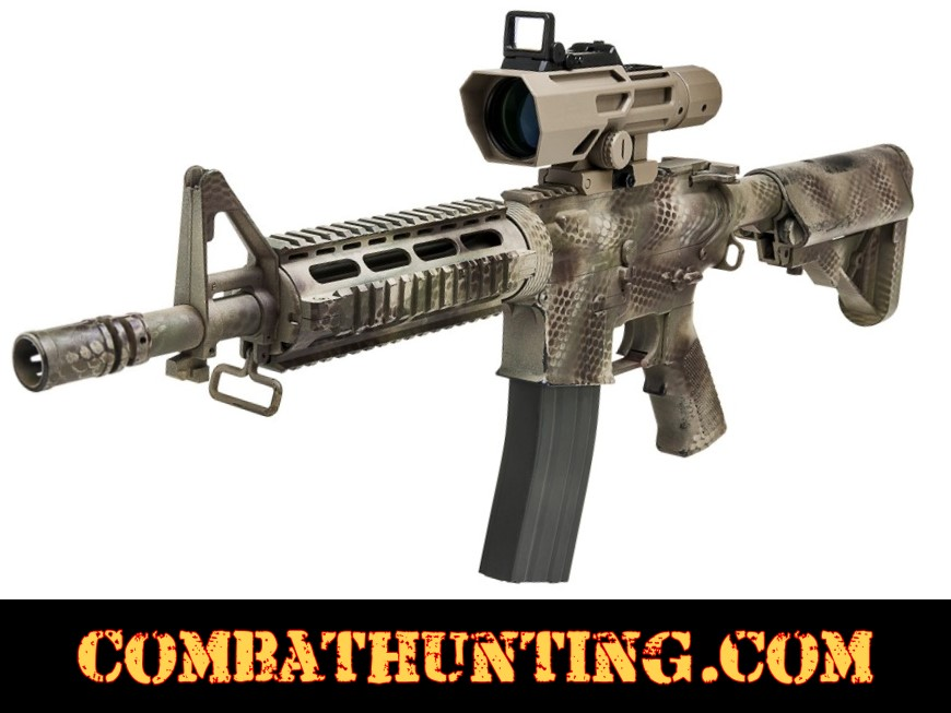 3-9x40 Scope With Red Dot Tan/FDE P4 Sniper style=