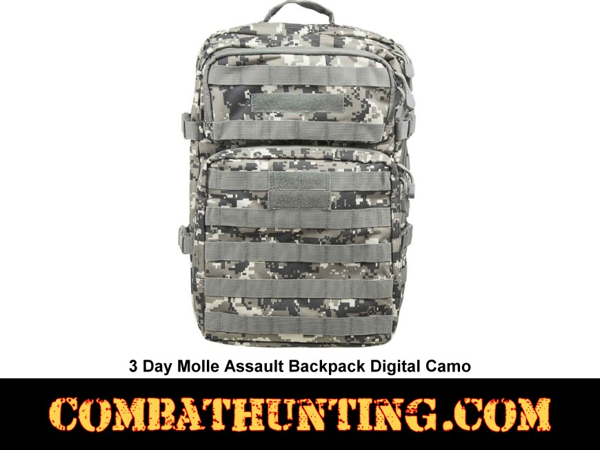 3 Day Molle Assault Backpack Digital Camo style=