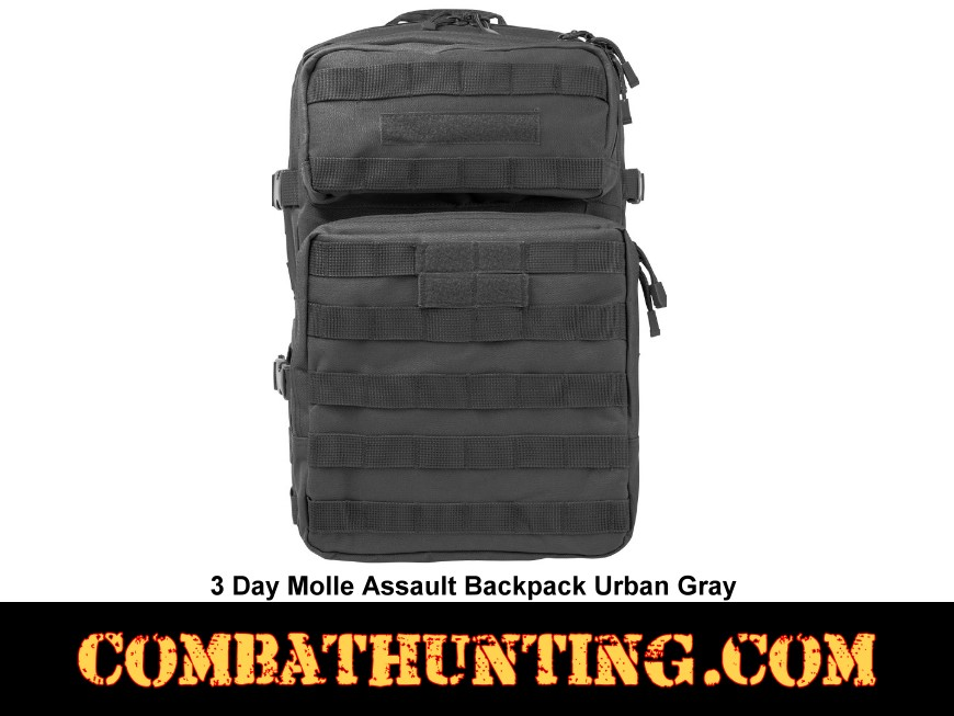 3 Day Molle Assault Backpack Urban Gray style=