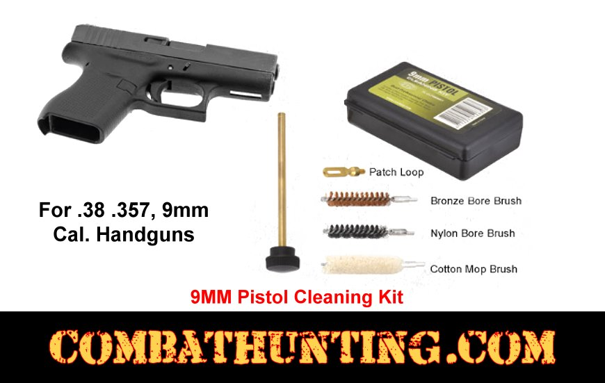 9mm Pistol Cleaning Kit .38 .357 style=