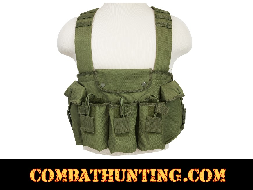 AK 47 Chest Rig OD Green style=