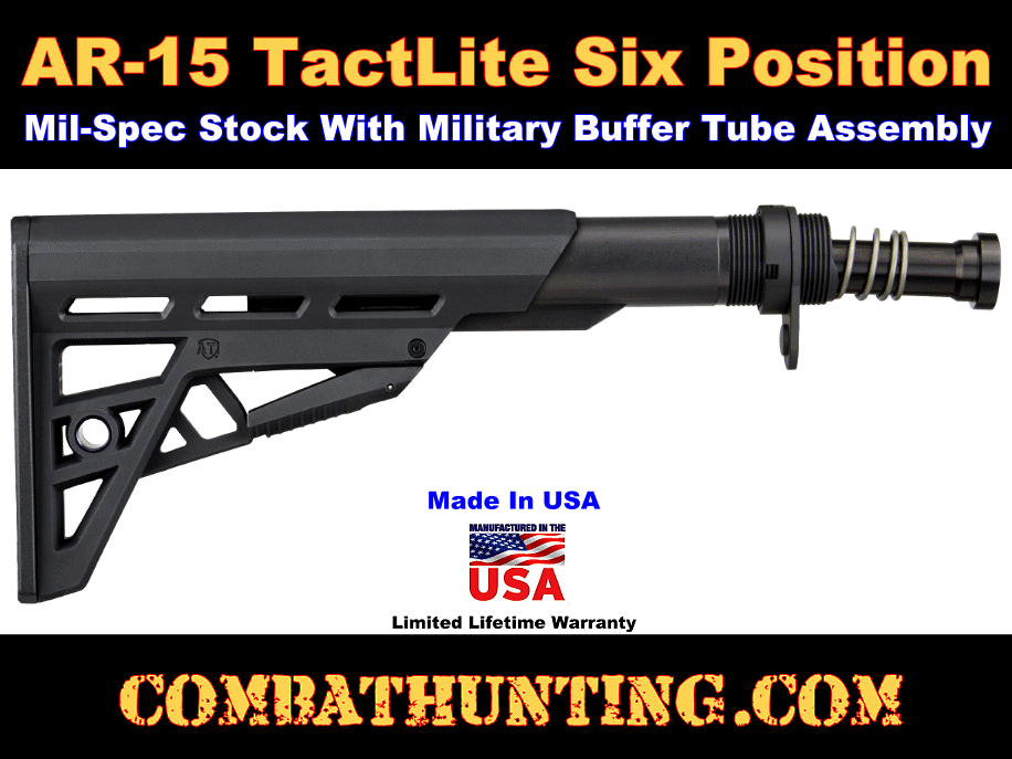 AR-15 Mil-Spec Stock and Buffer Tube Assembly Kit (Mil-Spec) style=