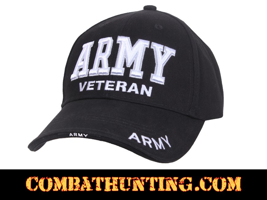 e5cc0f0c30b 3951 ARMY Veteran Hat Deluxe Low Profile - Military Hats Baseball Caps