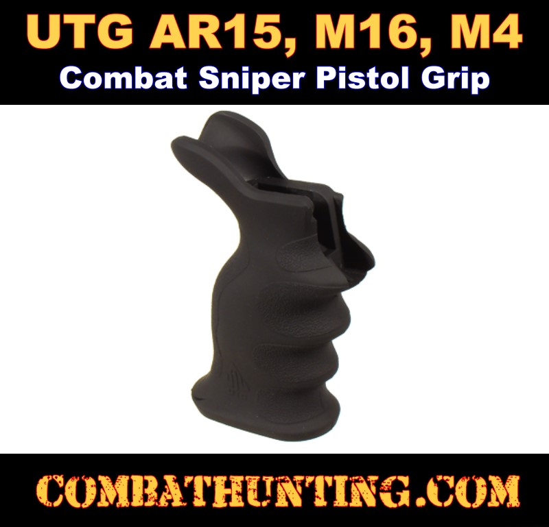 AR-15 Pistol Grip With Ergonomic Palm With Thumb Rest Shelf style=