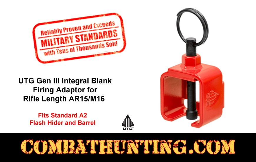UTG Gen III Integral Blank Firing Adaptor for AR/M16 Rifle style=