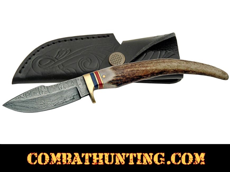 Damascus Steel Swoop Patch Knife style=