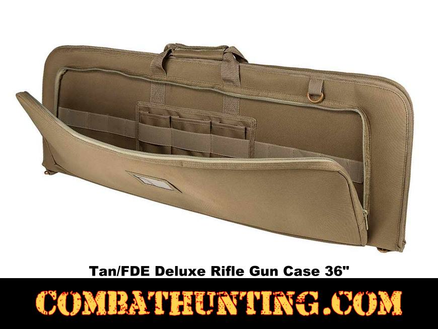 Deluxe Rifle Case Soft Gun Case 36 Inches Tan/FDE style=
