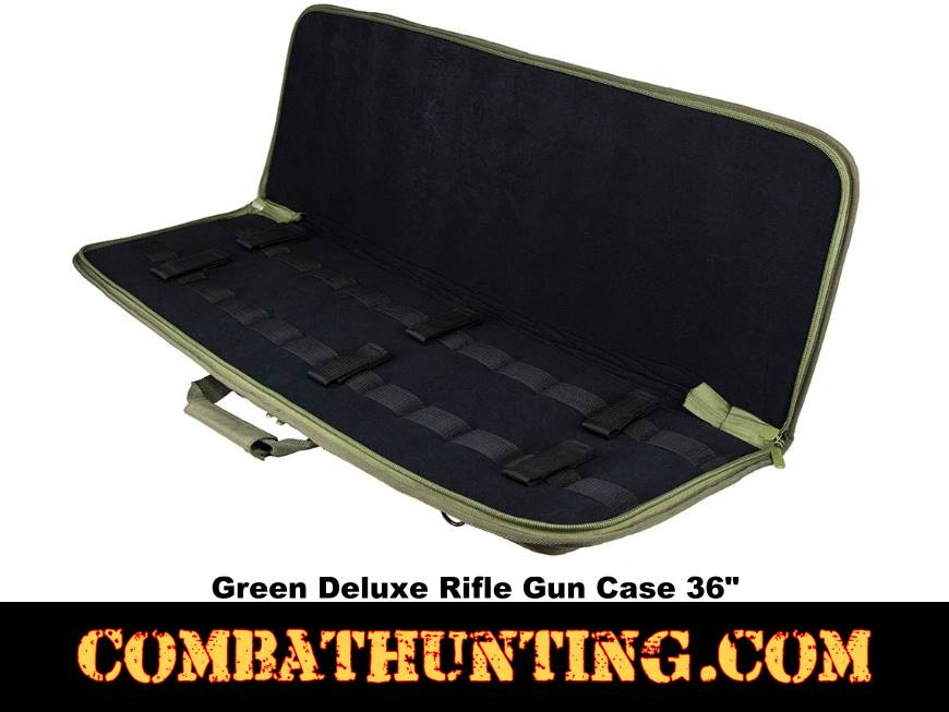 Deluxe Rifle Case Soft Gun Case 36 Inches Green style=