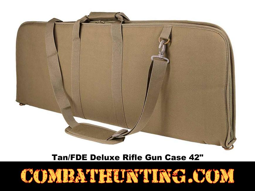 Deluxe Rifle Case Soft Gun Case 42 Inches Tan/FDE style=