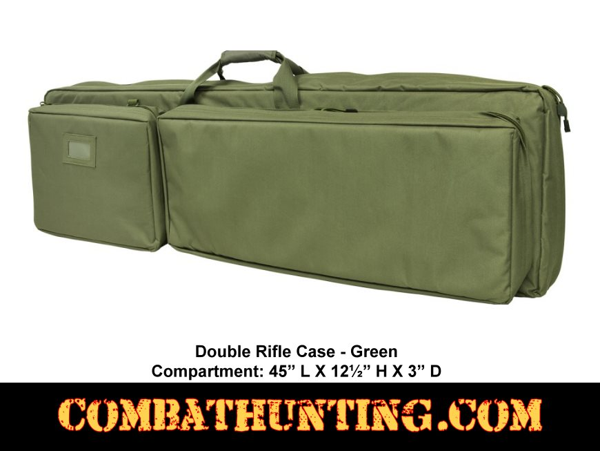 Double Rifle Case  Od Green 45 Inch style=