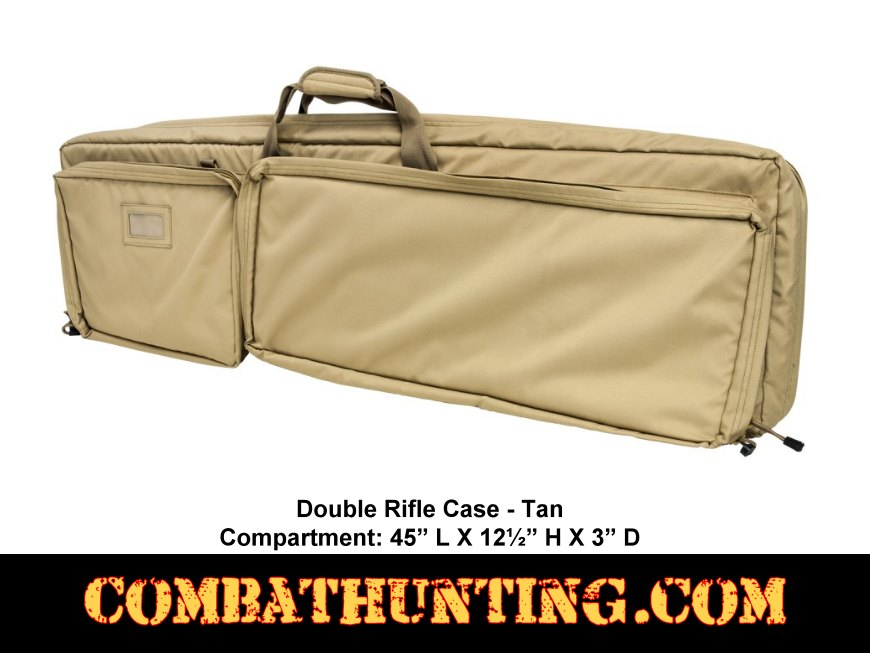 Double Rifle Case Desert Tan 45 Inch style=