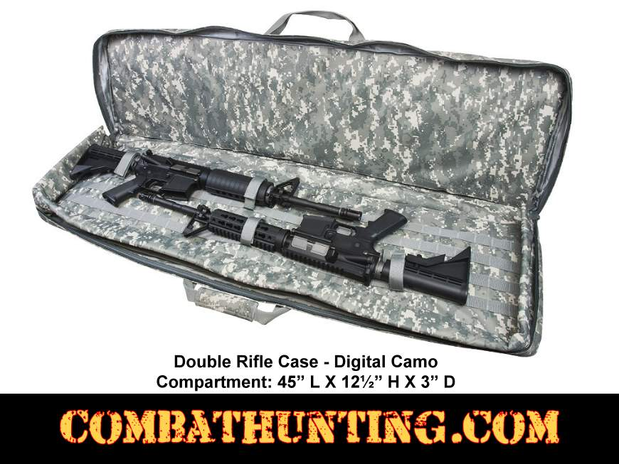 Double Rifle Case Digital Camo 45 Inch style=