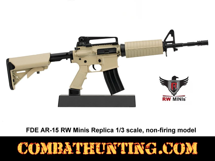 FDE AR-15 RW Minis Replica 1/3 scale Non-Firing Model style=