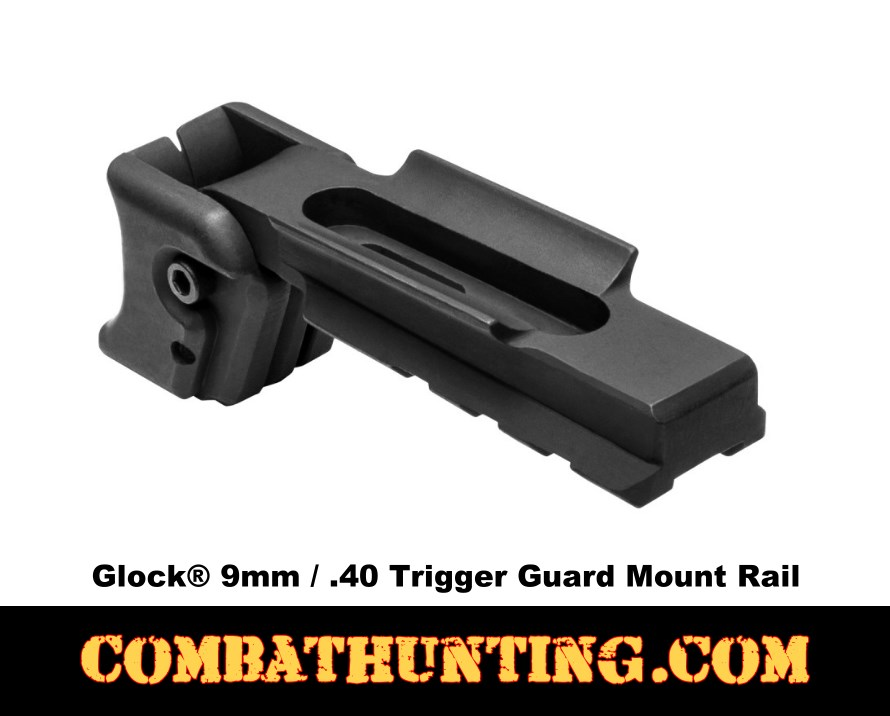 Glock® 9mm/.40 Trigger Guard Mount/ Rail style=