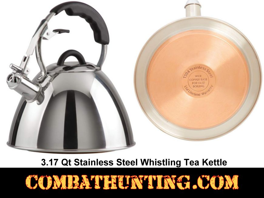 Large Whistling Tea Kettle 3.17 QT style=