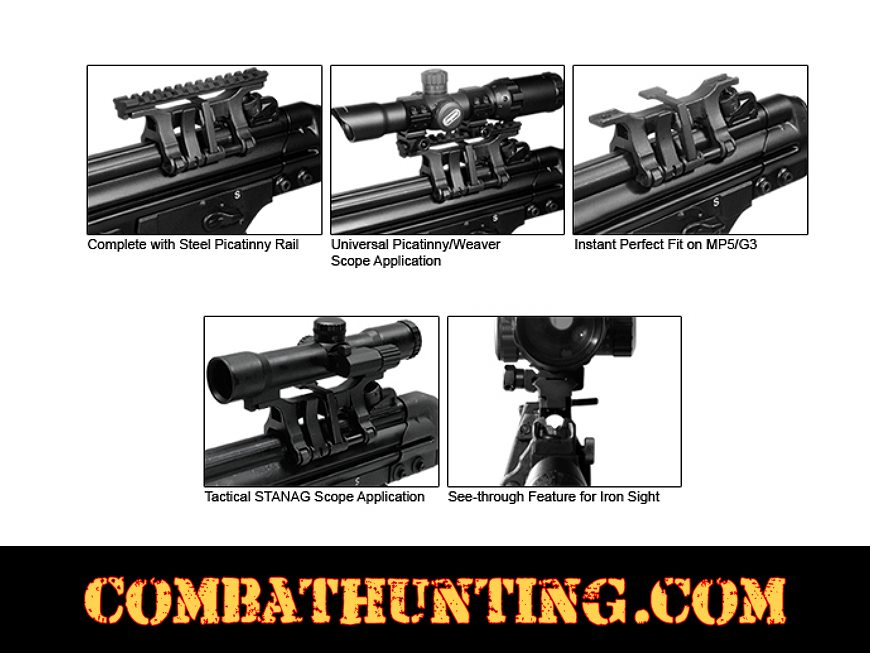 UTG MP5 H&K Steel Claw Mount with STANAG to Picatinny Adaptor style=
