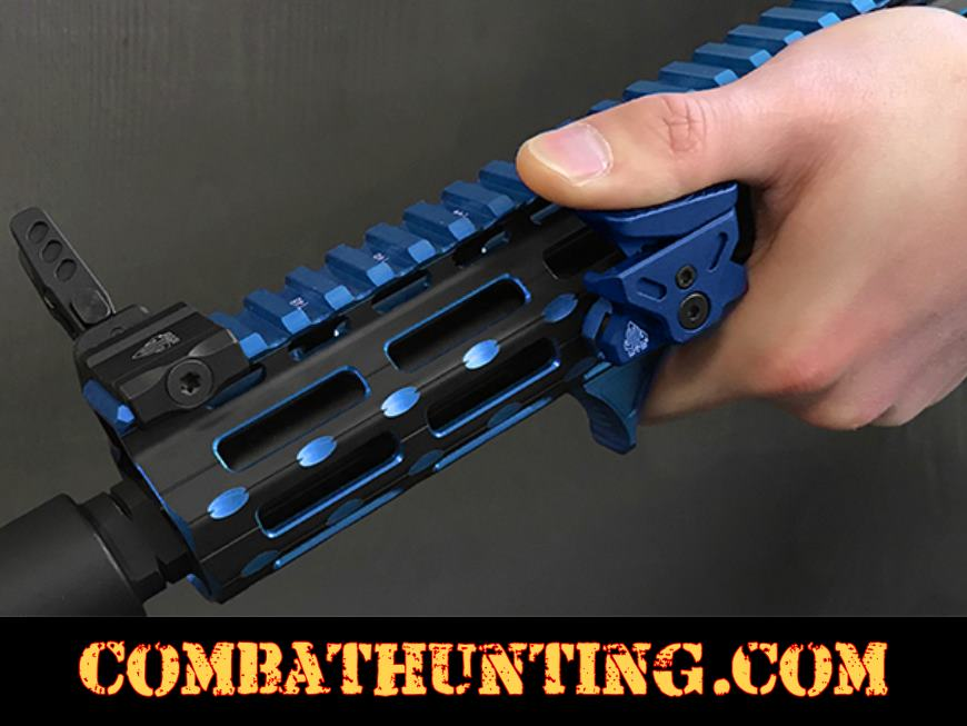 UTG® Ultra Slim Angled Foregrip, M-LOK® Matte Blue style=