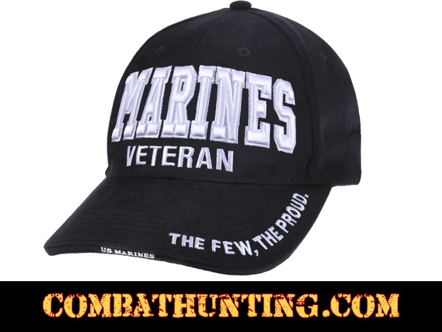 213a7ec983e 3956 Marines Veteran Hat Deluxe Low Profile - Military Hats Baseball Caps