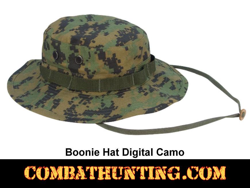5827 Military Boonie Hat Woodland Digital Camo - Boonie Hats 7142f37d410