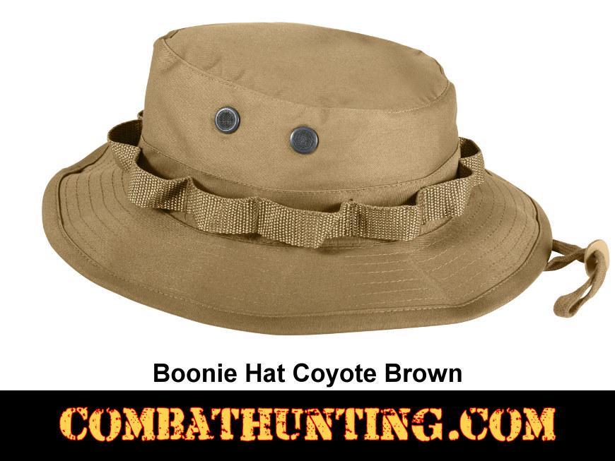 d11448f69b4 5750 Coyote Brown Boonie Hat - Military Hats Baseball Caps