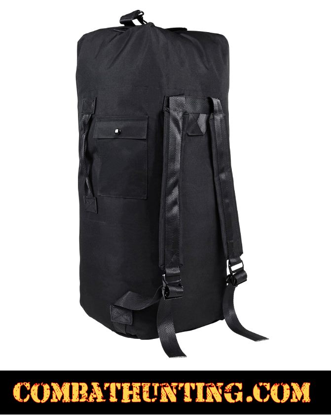 Us Military Style Duffle Bag Top Loading Black