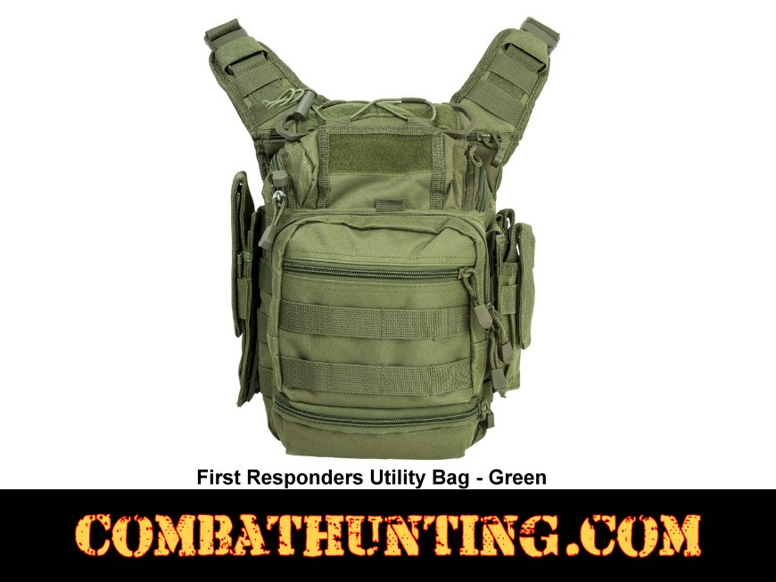First Responder Tactical Utility Bag Green style=