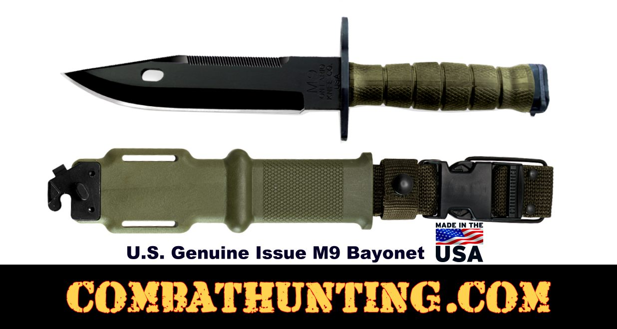 G.I. M9 Bayonet Genuine Issue style=