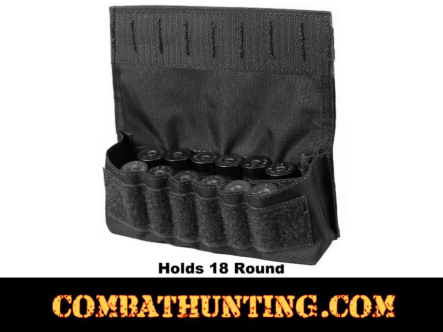 Molle Shotshell Holder Black 18 Rounds style=