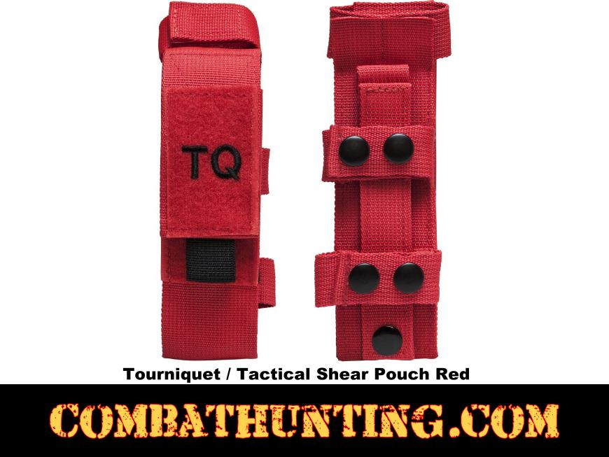 NcSTAR Tourniquet & Tactical Shear Pouch Red style=