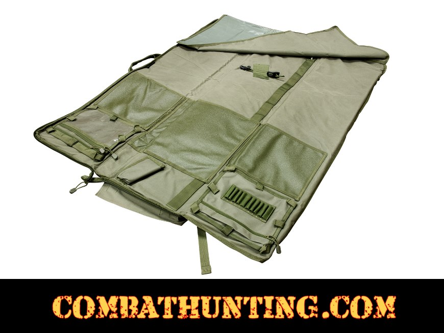 Rifle Case Shooters Mat Green style=