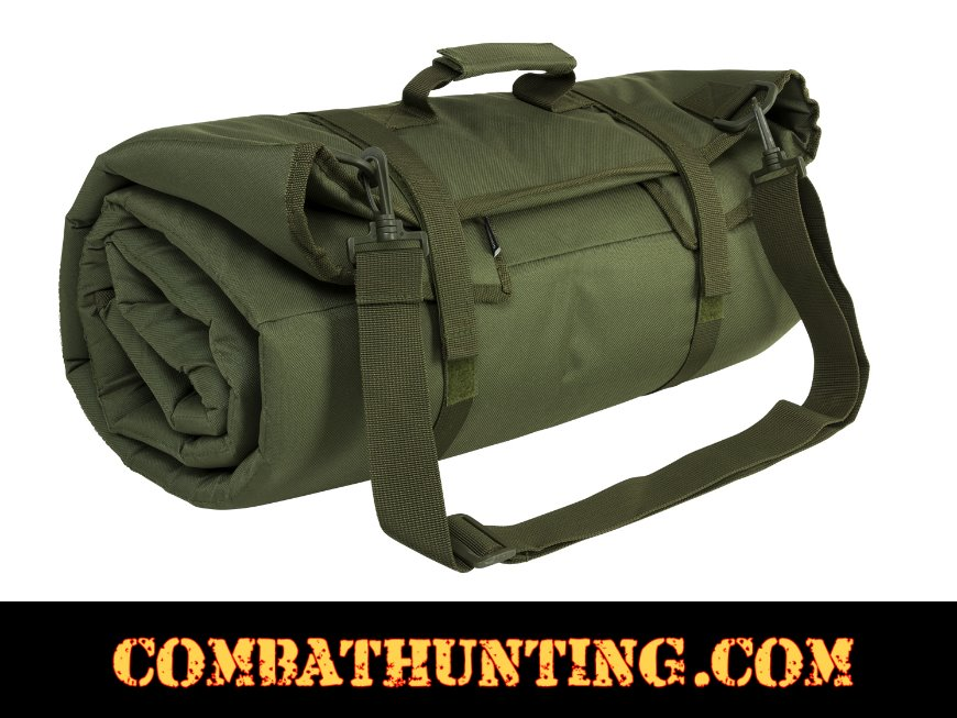 Roll Up Padded Shooting Mat Green style=
