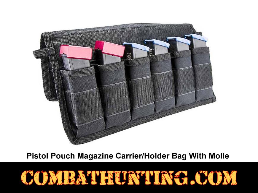 Pistol Pouch Magazine Carrier/Holder Bag With Molle style=