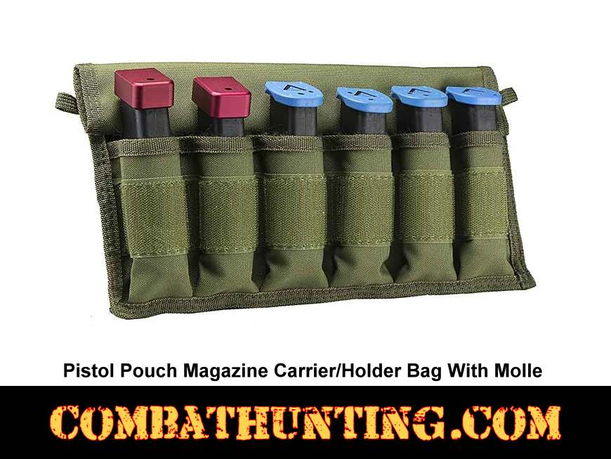 Military Green Pistol Pouch Magazine Carrier/Holder Bag style=