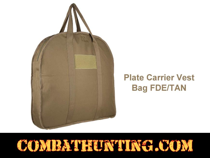 Plate Carrier Vest Bag FDE/TAN style=